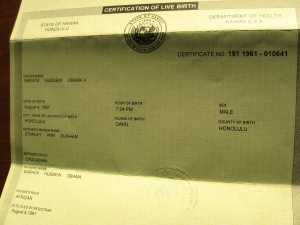 Barack Obama's Hawaiian Birth Certificate